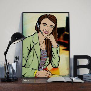 Archer style illustration, Telesales Illustration, CP Creative Illustration