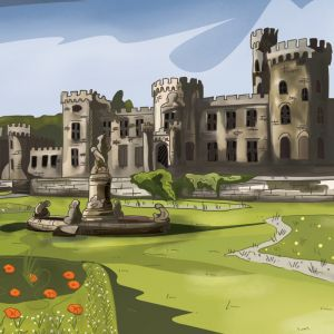 Cyfarthfa Castle Illustration, CP Creative Illustration, Merthyr Tydfil Illustration, Graphic Design Merthyr Tydfil, Cyfarthfa Park Illustration, Cyfarthfa Castle picture,