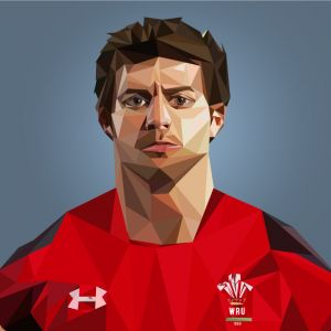 Lee Halfpenny illustration, CP Creative Illustration, Graphic Design Cardiff, Graphic Design Merthyr Tydfil, Wales Illustration, Rugby Illustration